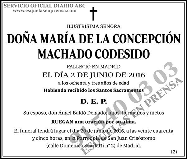 María de la Concepción Machado Codesido